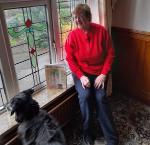 Jazz with his owner, author Anne Blackmore.