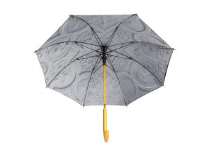 An umbrella inspired by the ceiling of Aston Hall.