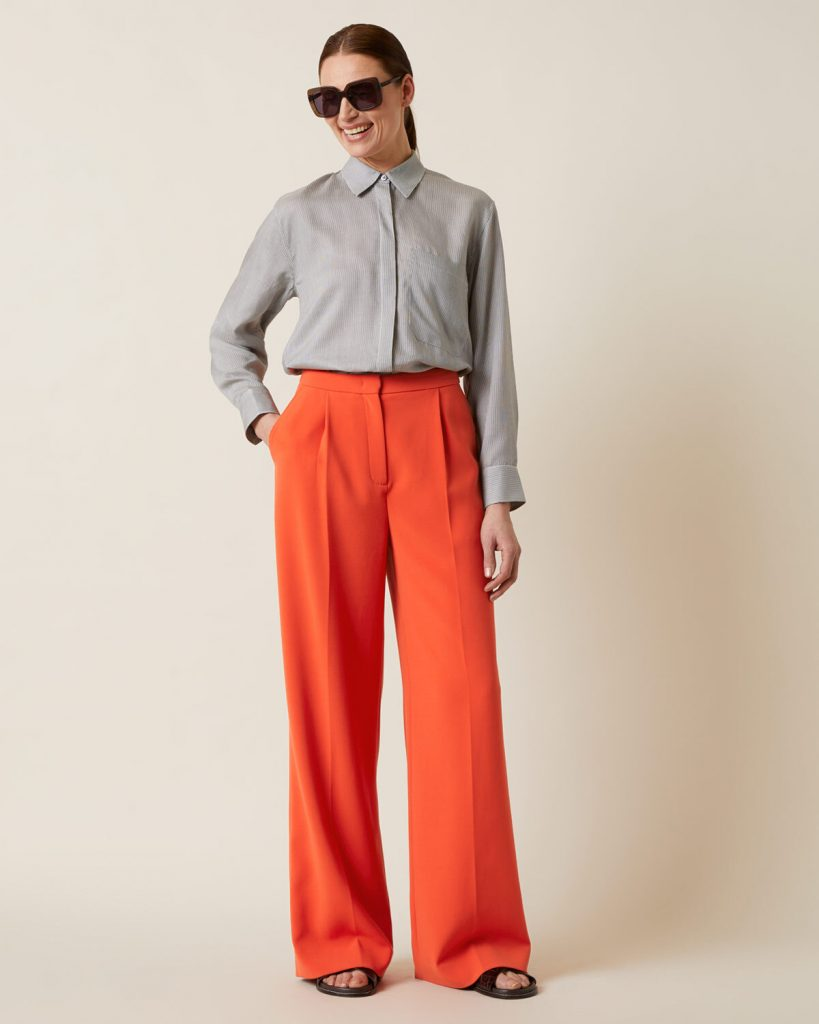 Jigsaw front pleat trousers, £140, Harvey Nichols