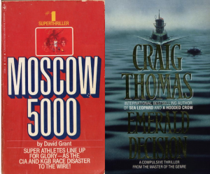 He wrote two novels as David Grant – 1979's Moscow 5000, which has not been reprinted since it was published in paperback the following year, and Emerald Decision (1980), which was later revised and reprinted under his usual name. Images courtesy www.craigthomascompanion.co.uk