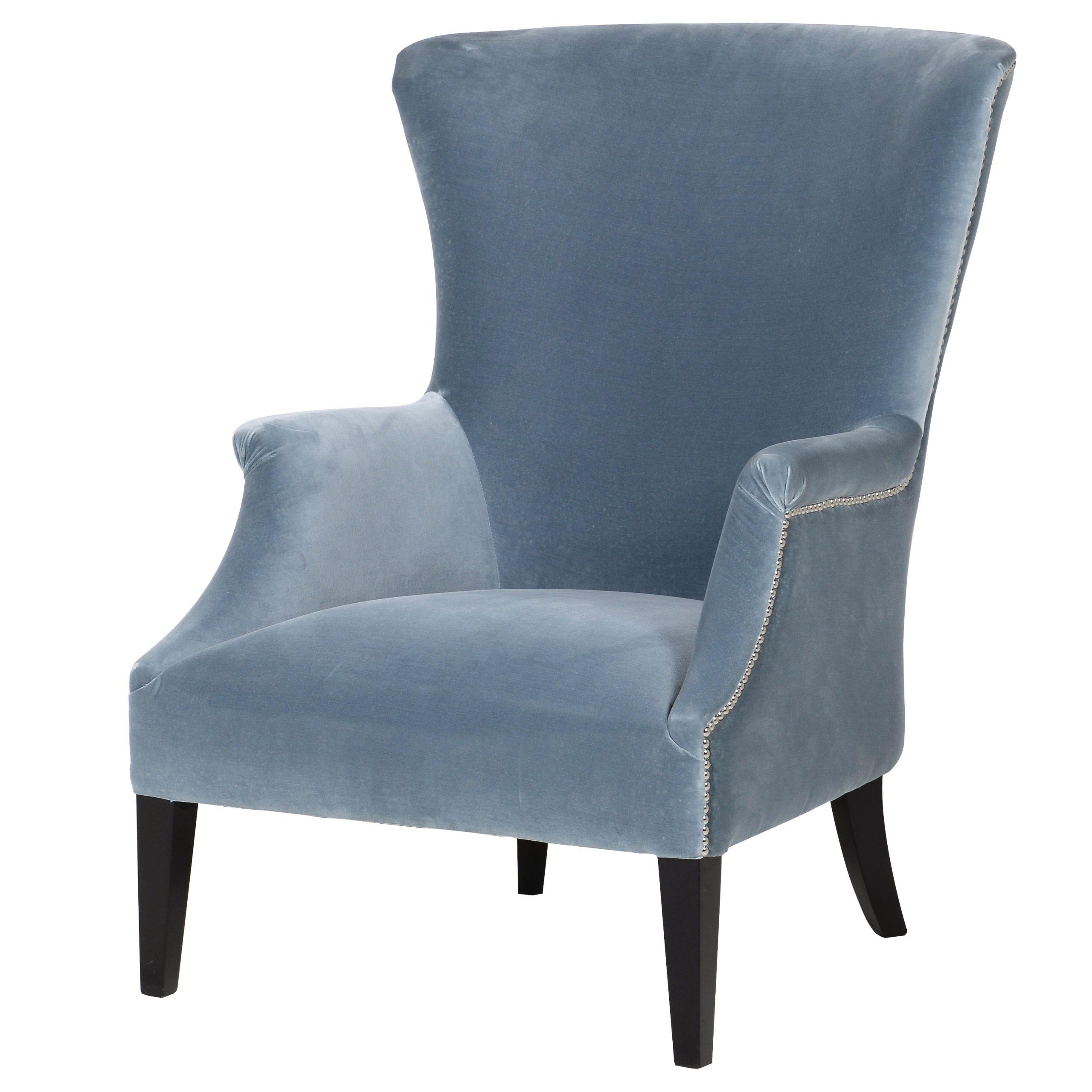 Pastel blue studded chair, £990, Needwood Living, Alrewas, www.needwoodliving.co.uk