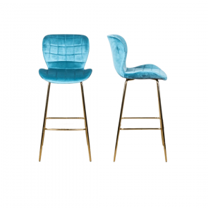 Lily velvet bar stools, £135 for two, Peppermill Interiors, Burntwood Business Park, www.peppermillinteriors.com