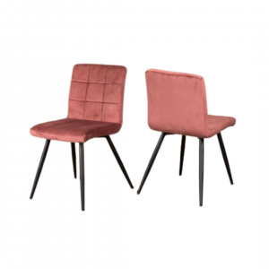 Phoenix velvet dining chairs,  £120 for two, Peppermill Interiors, Burntwood Business Park, www.peppermillinteriors.com