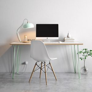 Hairpin table in pastel green, from £170, www.thehairpinlegcompany.co.uk