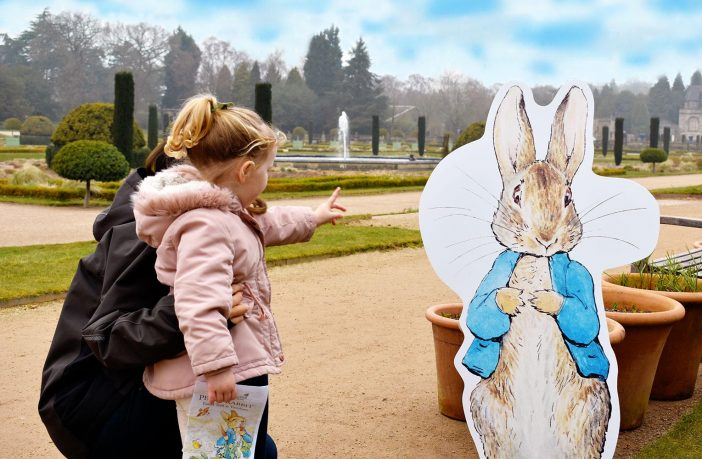 You can follow a Peter Rabbit trail at Trentham Gardens this Easter.