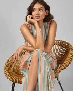 Candy striped dress, £179, Ted Baker.