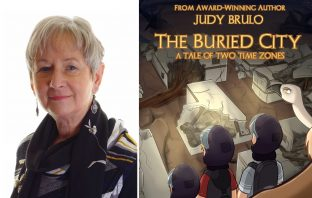 Judy Brulo and her new book.