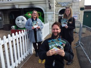 Kirsty Mcmahon -from Visit Lichfield with Danielle Nicholls and Ross Ballinger of Drayton Manor Park.
