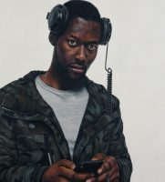 Peter's portrait of Solomon Onaolapo, which was selected for the John Moores Painting Prize exhibition.