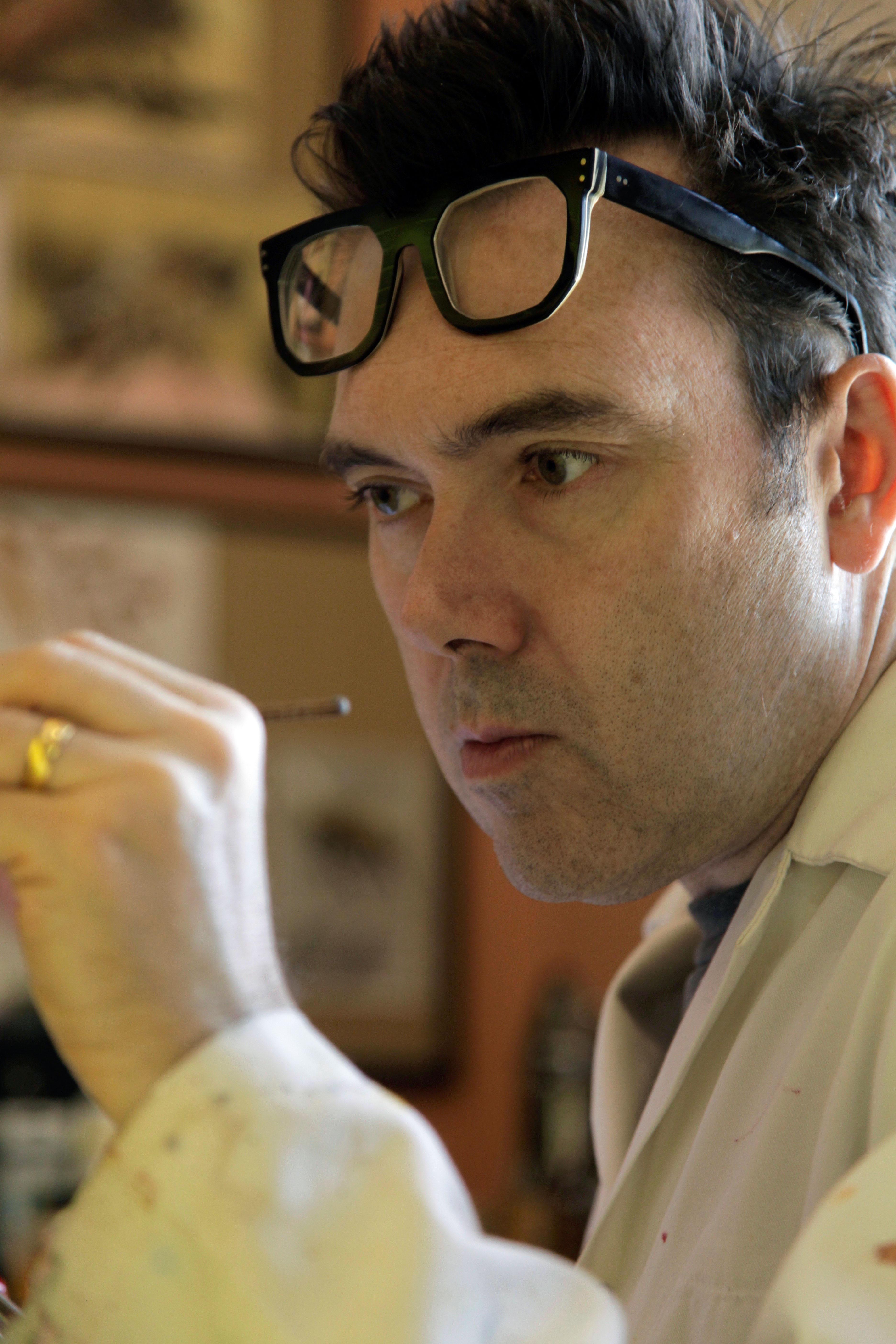 Peter Davis at work.