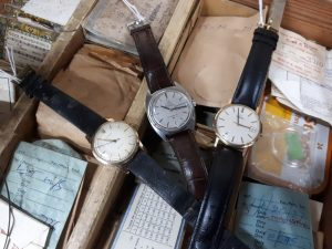 Wristwatches in the sale include a 1960s Rolex Precision, Omega Constellation and 9ct gold Omega.