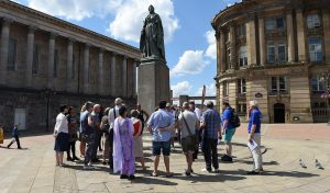 Positively Birmingham have resumed their walking tours of the city centre.