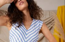Striped midi dress, £70, Monsoon.