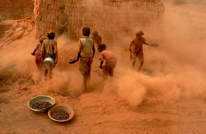 Children at work by Mohammad Asad.