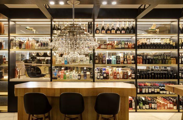 The wine shop at Harvey Nichols Birmingham.