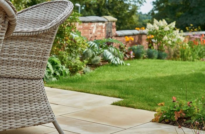 Dune smooth sandstone patio pack, £582 per pack, www.tippers.com