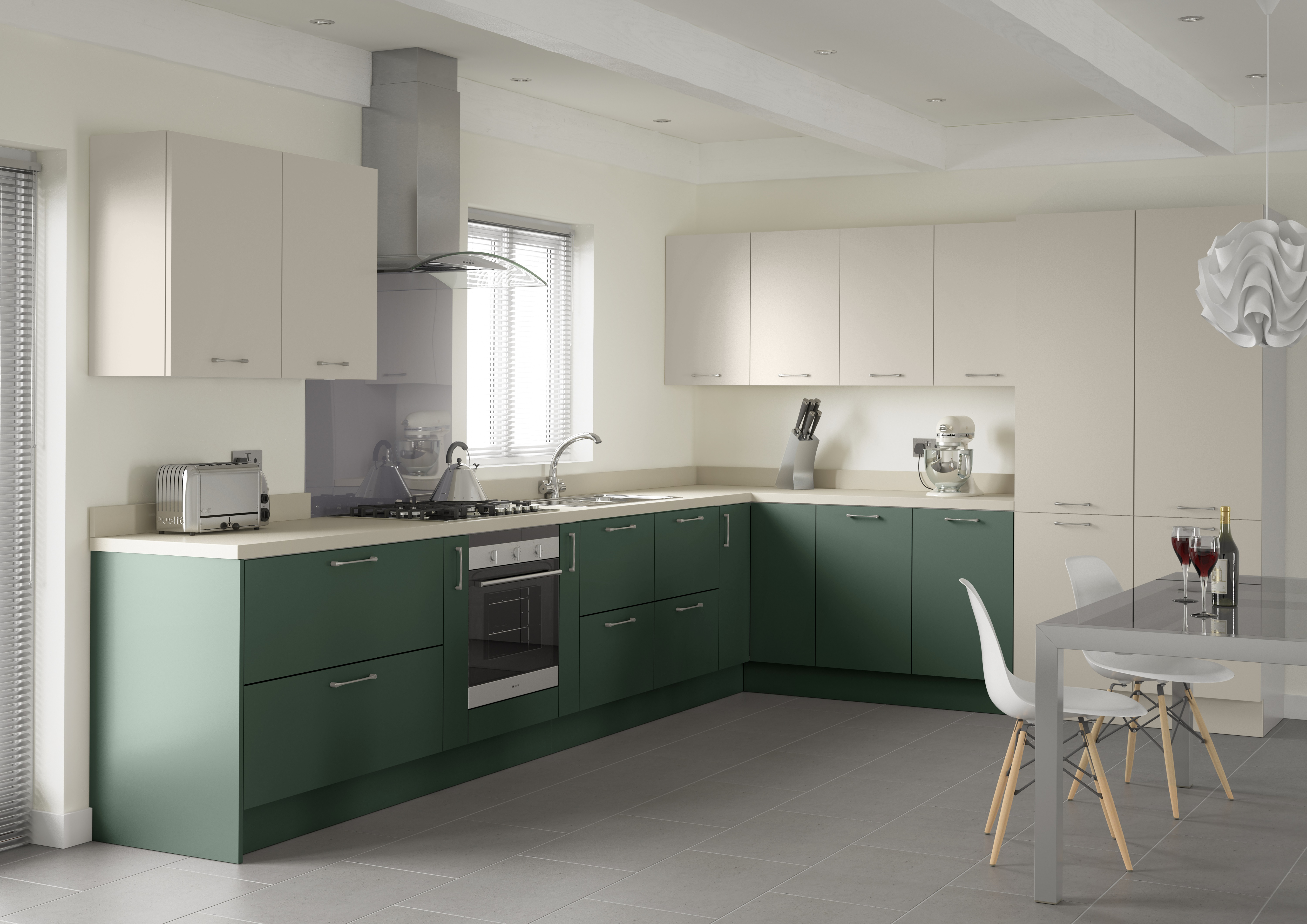 Cashmere slab and labrador green slab. starting at £5,000, from the Profile Collection at Trend Interiors, www.trendinteriors.co.uk