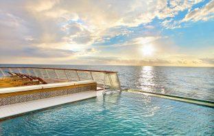 An infinity pool aboard a Viking Ocean Ship.