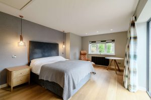 One of the spacious bedrooms.