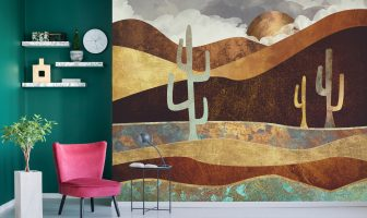 Patina Desert mural by Spacefrog Designs, from £35 per square metre, www.wallsauce,com